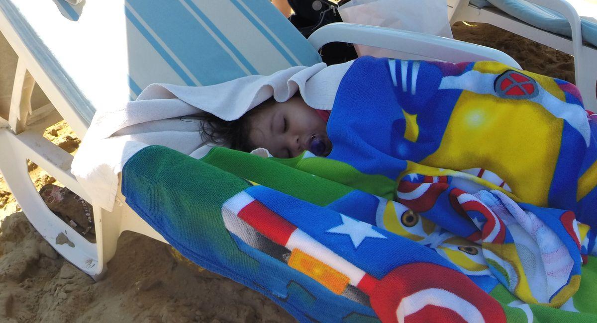 Mittagsschlaf am Strand